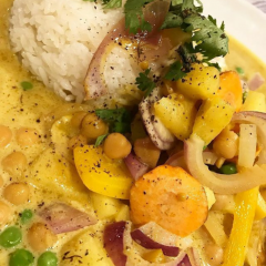Ananas Kichererbsen Curry